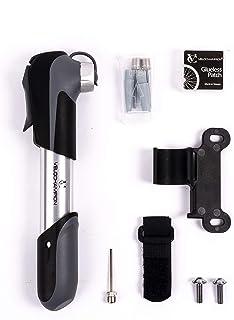 VeloChampion 'UNO' Smart Mini Alloy Bike Pump & Glueless Puncture Repair Tool Kit - Fits Presta & Schrader 80 PSI - No Val...