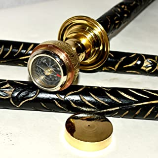 Eve Store Nauticals Messing Walking Stick Verzamelbare Authentieke Kompas Gentleman's Walking Stick