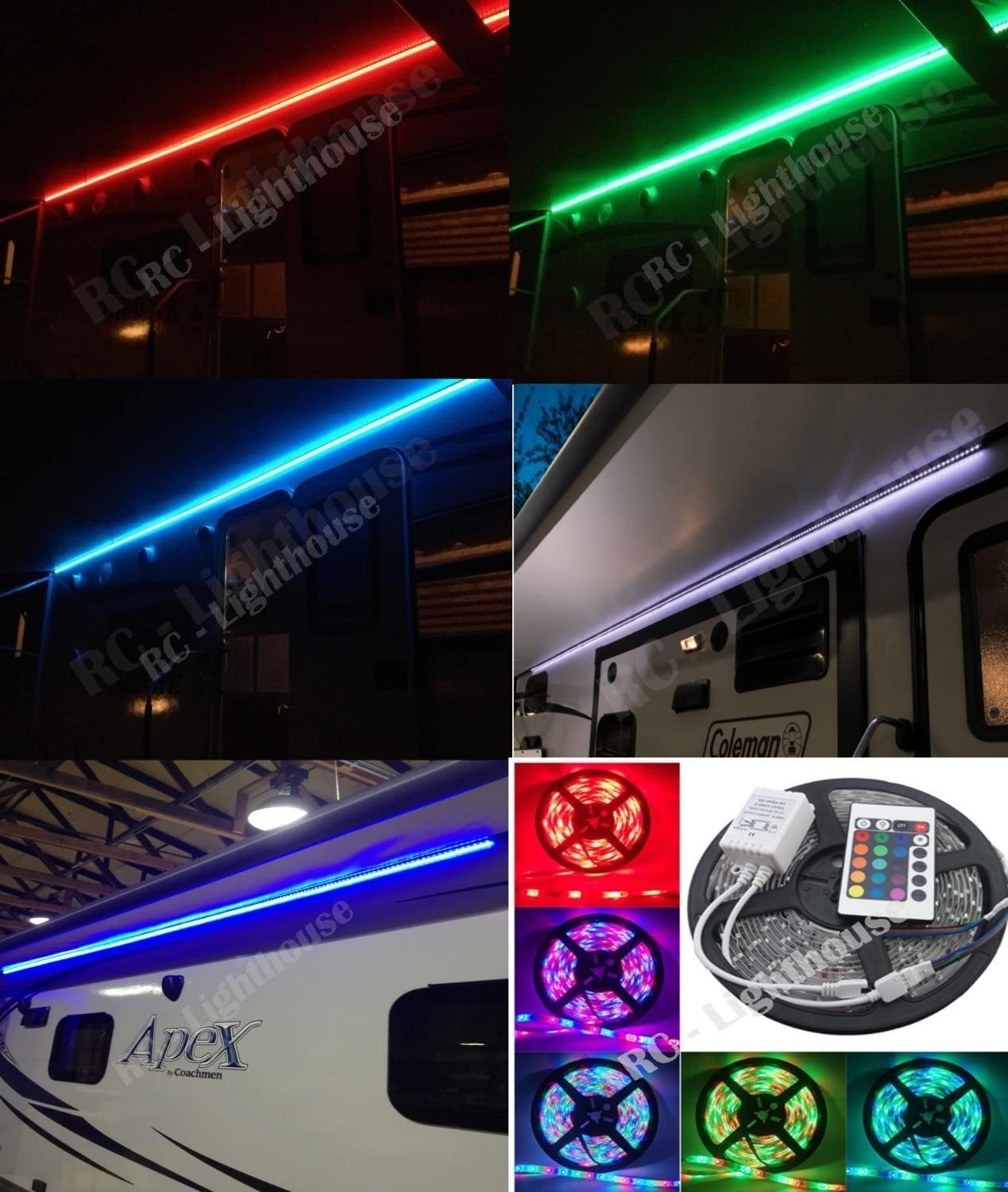 Rv Awning Camper Recreational Vehicle RGB with Lights 24 SEAL limited product LED Key 67% OFF of fixed price
