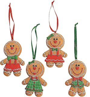 Image of Gingerbread Man Christmas Ornament Set