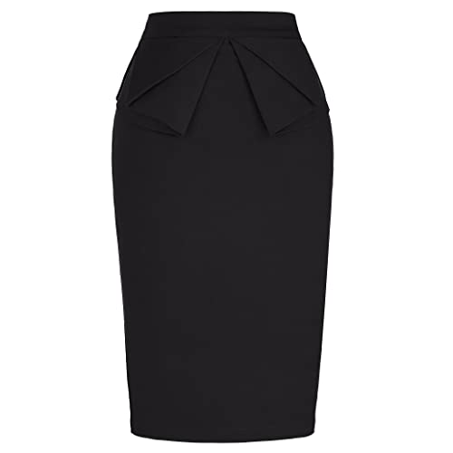fa9db60ff7 PrettyWorld Vintage Dress Women's Wear to Work Stretchy Office Pencil Skirt
