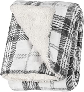 Life Comfort Ultimate Sherpa Throw - 60 in x 70 in (White and Gray)