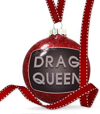 NEONBLOND Christmas Decoration Drag Queen Printed Jewelry on Black Ornament