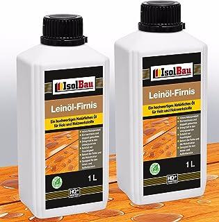 2 Liter Doppelt Gekocht NATUR Holzschutz LEINÖL- FIRNIS Holzöl Leinölfirnis Holz Möbel Lasur Holzschutz Holzpflege Harzfrei Lackfirnis Harzfrei