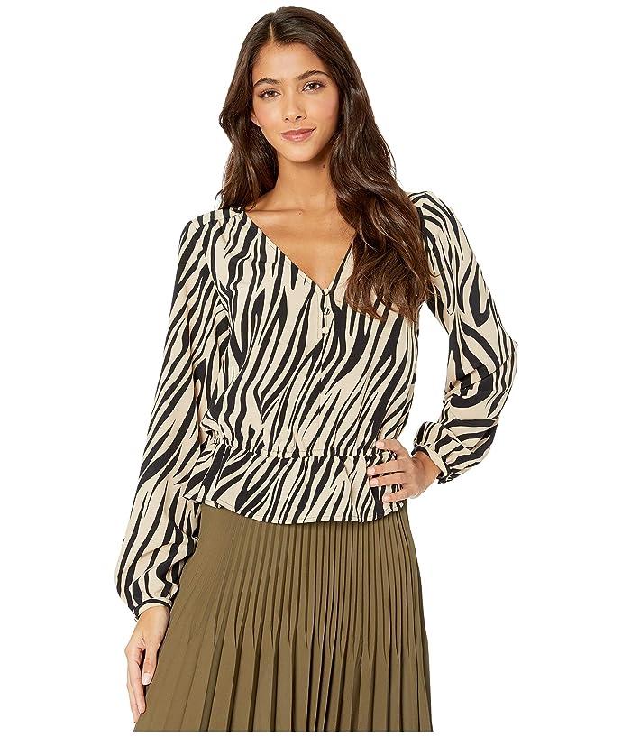 Sanctuary  All Nighter Blouse (Zebra) Womens Clothing