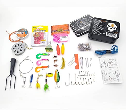 Survival Fishing Kit, Hiking Gear, Hunting Gear, Bug Out Bag, Emergency Preparedness, Survival-Pocket Fishing Kit, Outdoor Pocket Survival Kit, Extreme Wilderness Kit