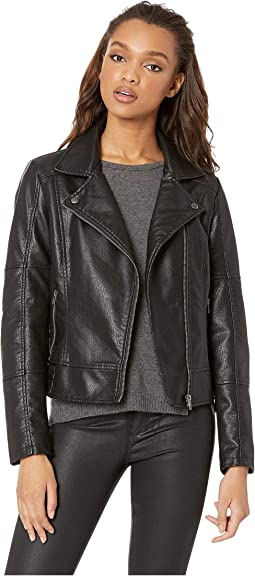 Calgary Vegan Leather Moto Jacket