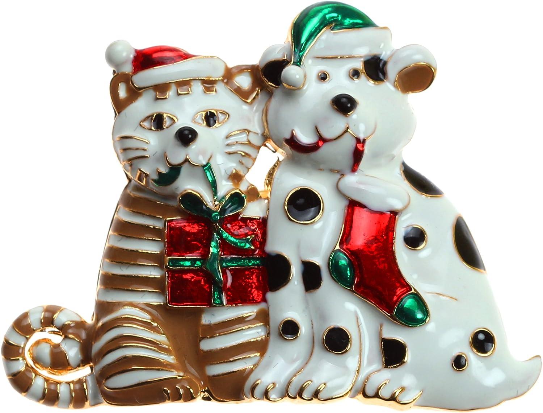 Lova Jewelry Christmas Dog Pin