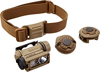 Streamlight 14518 Sidewinder Compact II Military Flashlight with Helmet Mount, Rail Mount, CR123A Lithium Battery, White, Red, Blue and IR LEDs - 47 Lumens