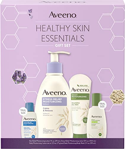 Aveeno Body Lotion Healthy Skin Essentials Gift Set, Skincare Set with Daily Moisturizing Body Lotion & Nourishing Bo...
