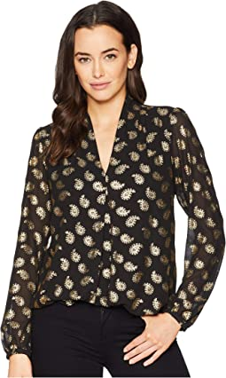 Floating Foil Paisley Top