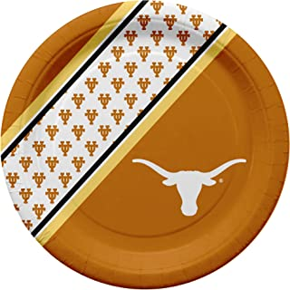NCAA Texas Longhorns Disposable Paper Plates, Pack of 20