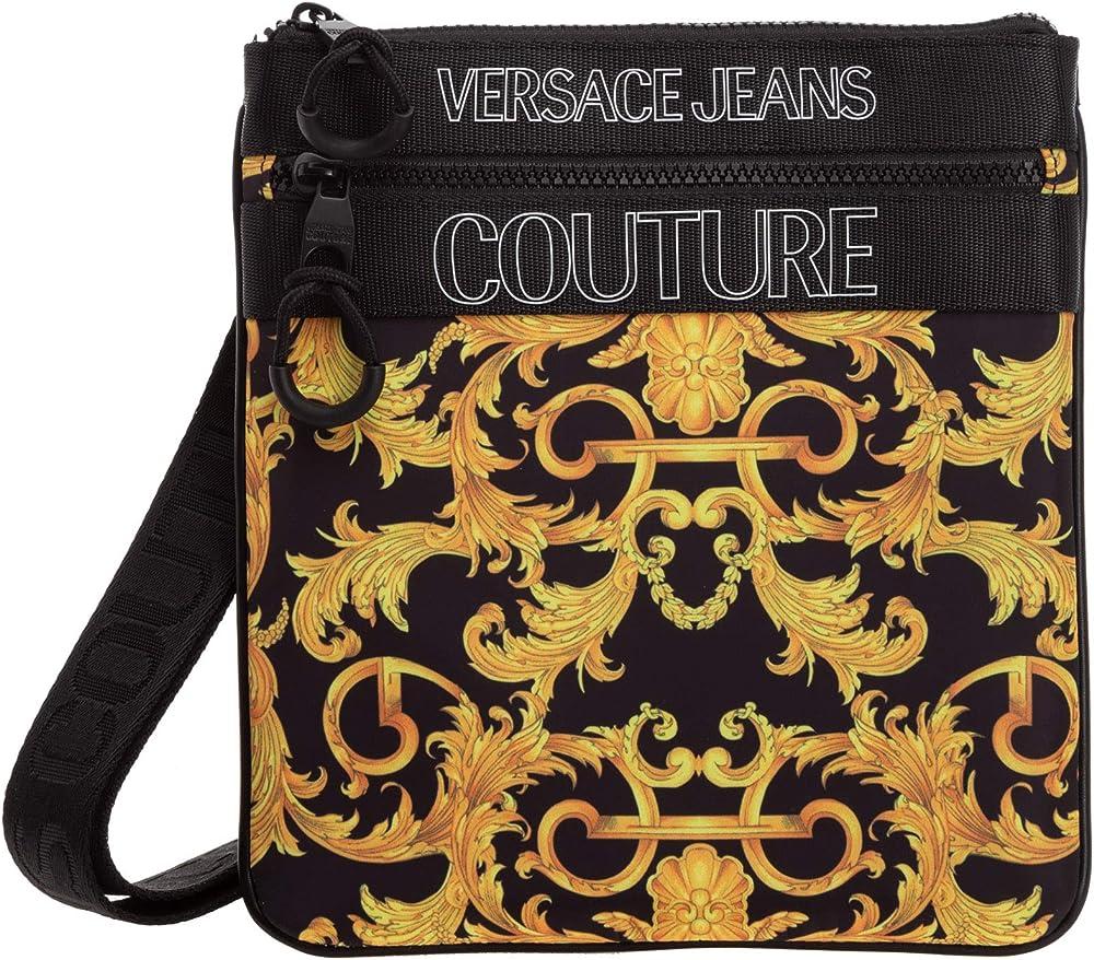 Versace, borsello da uomo,100 % poliammide EE1YWABA4-E71896_EM27