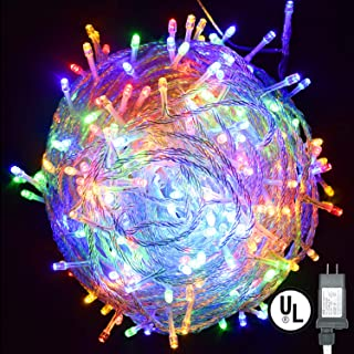 String Lights,Vofler Plug in 300 LED 100 ft/30M [UL Listed] [Weatherproof] [8 Modes] Decorative Lighting for Bedroom Patio Indoor Outdoor Home Kids Room Christmas Xmas Tree Holiday Party-Multicolor