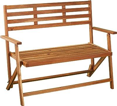 SEI Furniture AMZ6295801DO Ballidon Outdoor Bench, Oiled Acacia
