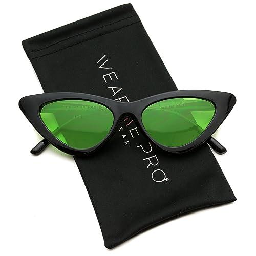 01e4dd28ac08 WearMe Pro - Retro Vintage Tinted Lens Cat Eye Sunglasses