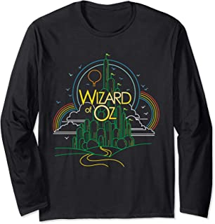 Classic Wizard of Oz, line drawing of Emerald City, all ages Long Sleeve T-Shirt