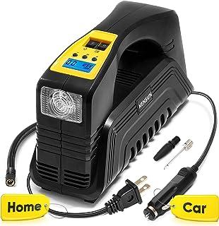 Kensun AC/DC Digital Tire Inflator for Car 12V DC and Home 110V AC Rapid Performance..