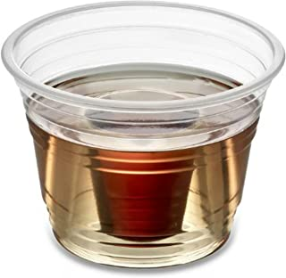 Zappy 50 Neon Clear Jager Bomb Cups Disposable Plastic Party Bomber Power Bomber Jager Bomb Cups Cool Double Shot Glass Glasses Shot Cup Cups Jager bomb glasses for mixed shots Jagerbombs 50 Ct Clear