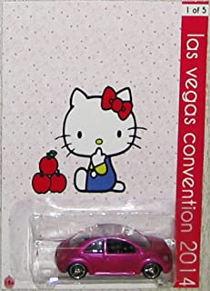 Hot Wheels Pink VW Bug Custom Hello Kitty 2014 Las Vegas Convention with Real Rider Rubber Wheels Limited Edition 1:64 Scale Collectible Die Cast Car Model 1 of 25 Made