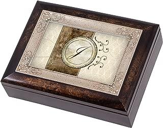Cottage Garden Monogram Letter J Italian Design Jewelry Music Box Plays Tune Wind Beneath My Wings
