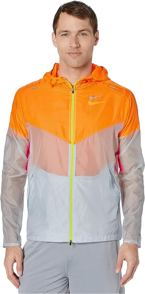 Nike windrunner jacket white cool grey + FREE SHIPPING