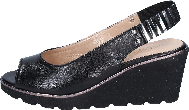 DANIELA ROSSI Sandaler kvinnor kvinnor kvinnor läder svart  upp till 65% rabatt