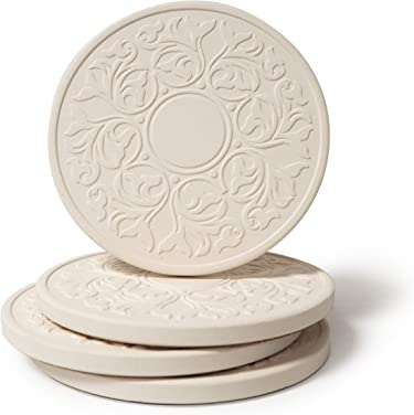 4-1//4-Inch CoasterStone AS10027 Poetic Garden Absorbent Coasters Set of 4
