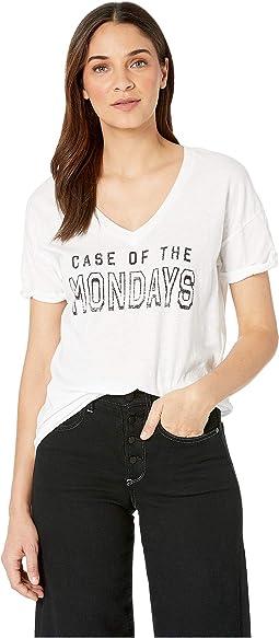 Case of the Mondays Slub Cotton Boyfriend V-Neck