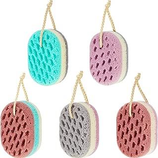 5 Pieces Soft Bath Sponge Gentle Soothing Body Sponge Natural Fiber Exfoliating Shower Sponge for Women Men, Random Color