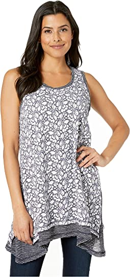 Lace Overlay Sleeveless Tunic