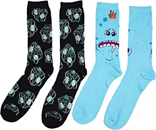 Rick and Morty Meeseeks Box Men's 2 Pack Crew Socks