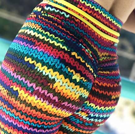 New Women High Jogging Yoga Fitness Leggings Gym Sports Pants Stretch Trousers Multicolor L