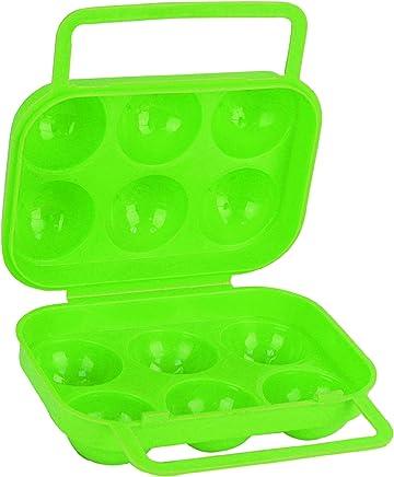 Preisvergleich für Highlander Aufbewahrungsbox für 6 Eier, Hellgrün, CS155-LM-01
