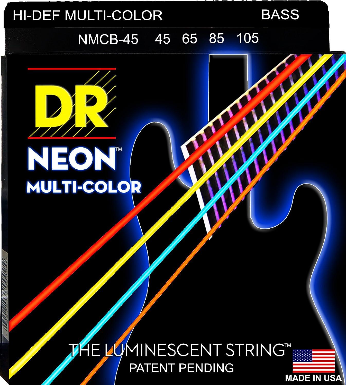 DR Strings Bass Strings Black Beauties BASS Black Coated Nickel Plated Bass Guitar Strings on Round Core Renewed