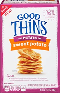 Good Thins: The Potato One - Sweet Potato Crackers, 3.75 Ounce, (Pack of 6)