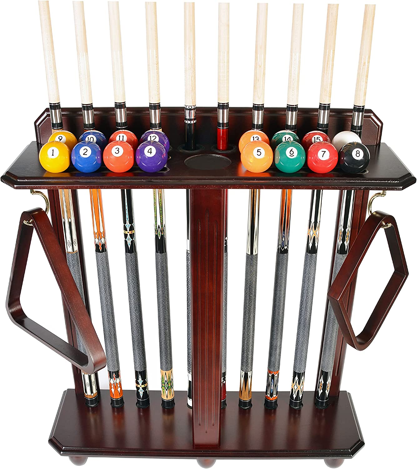 Cue Rack Only- 10 Pool - Billiard Set Max 45% OFF Ball Free Shipping New Sta and Floor Stick