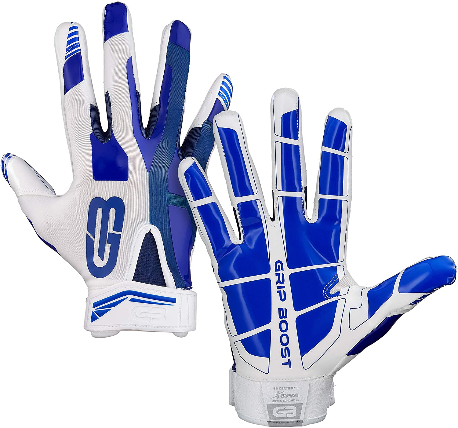Grip Special sale item Boost Stealth Dual Color Max 85% OFF Football Adult Mens Gloves Sizes -