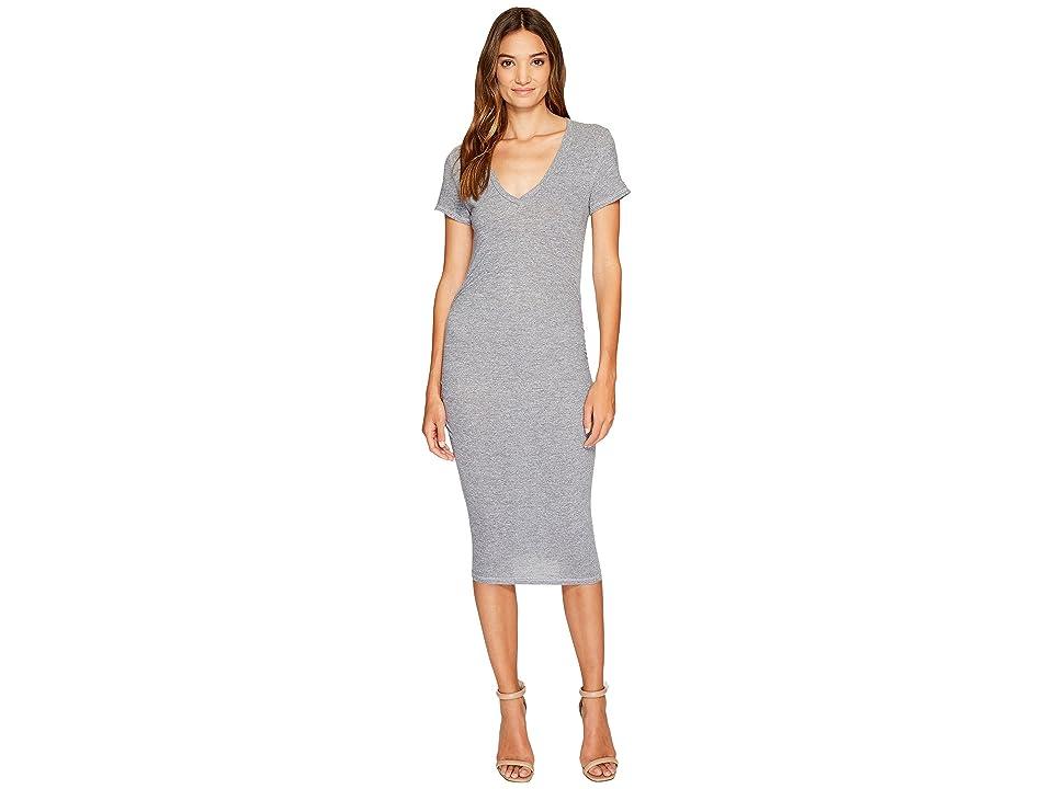 Lanston Ruched T-Shirt Dress (Heather) Women