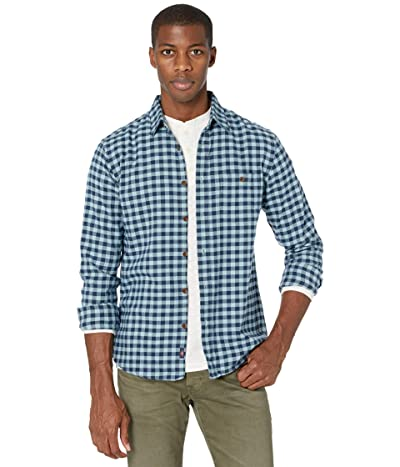Faherty Stretch Seaview Flannel (Turquoise Gingham) Men