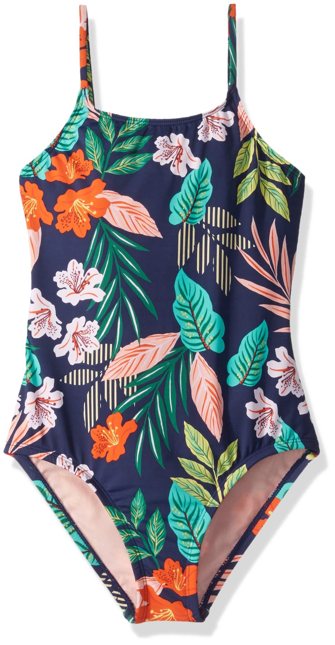 Hobie Girls Swimsuit Hibiscus Jungle