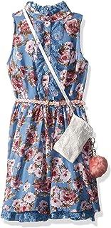 فستان فستان بناتي من Beautees مطبوع عليه زهور أمامية