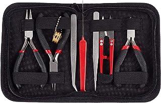 PandaHall- Kit Perles Outil, 8 PCS/Set, Perles et Fabrication de Bijoux, Outils Perle Travail Beaders Paquet, 155x110x35mm