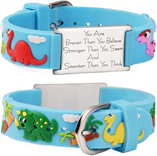 linnalove You are Braver Than You Believe Stronger Than You Seem and Smarter Than You Think Inspirational Bracelet for Boys & Girl, Teens.