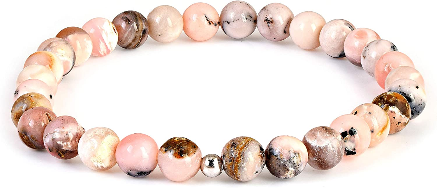 Natural Pink Opal quality assurance Bracelet Brand new Shaded Pin Stretch