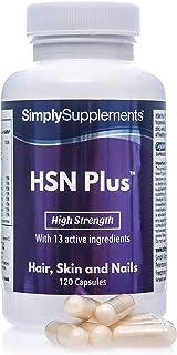 HSN Plus Pelo. Piel y Uñas - Con colágeno y biotina - ¡Bote para 2 meses! - 120 Cápsulas - SimplySupplements