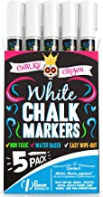 Liquid Chalk Marker Pen - White Dry Erase Marker - Chalk Markers for Chalkboard Signs, Windows, Blackboard, Glass - 6mm Re...