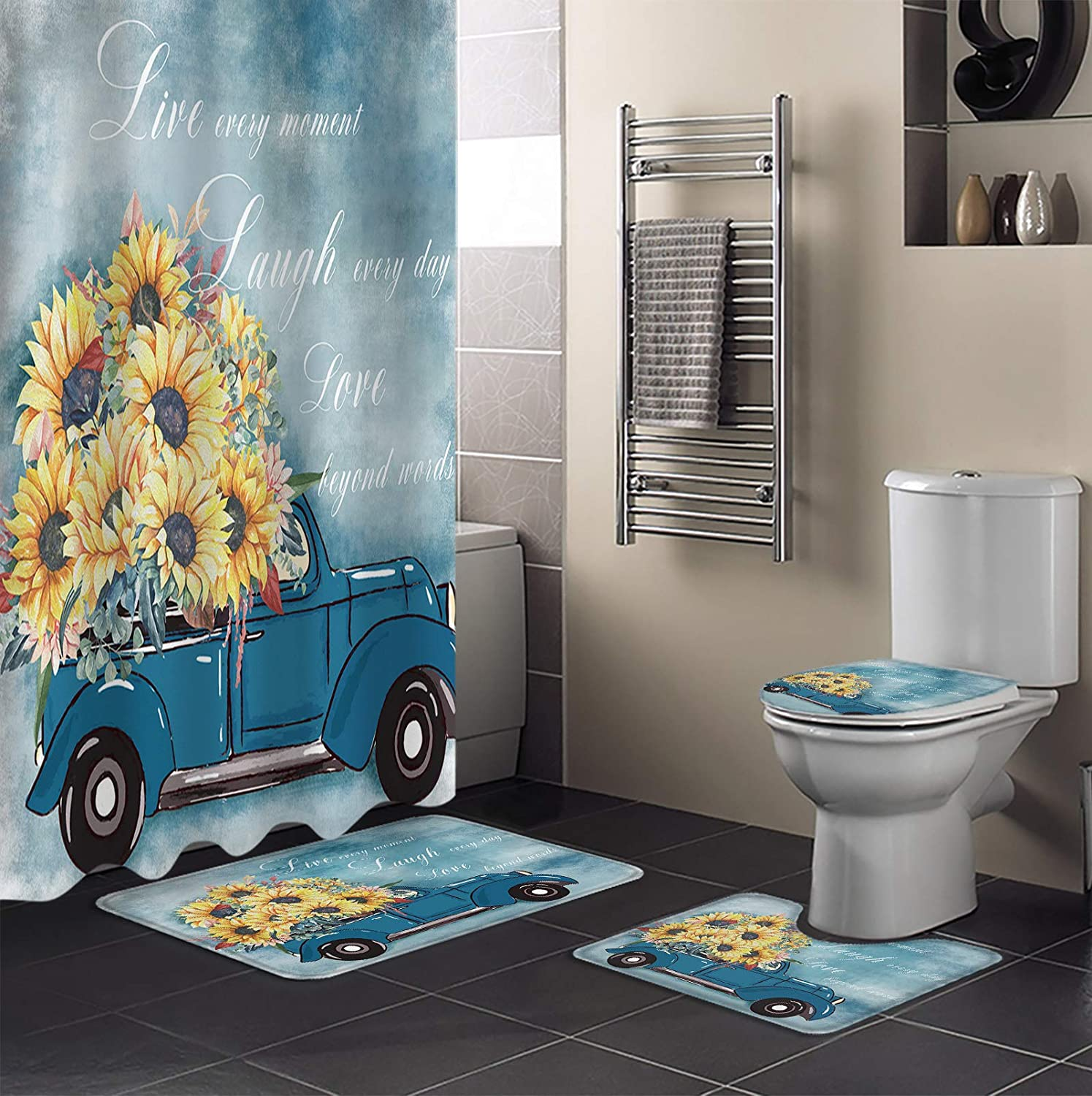 4 Industry No. 1 Piece Shower Curtain Sets Oil Often Simply Painting Live Free shipping New Laugh