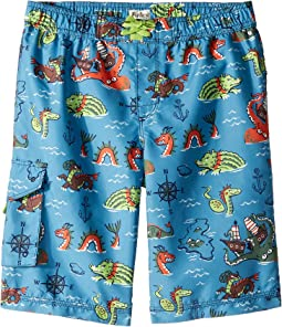 Sea Monsters Boardshorts (Toddler/Little Kids/Big Kids)