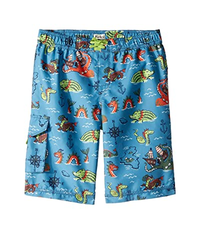 Hatley Kids Sea Monsters Boardshorts (Toddler/Little Kids/Big Kids) (Blue) Boy